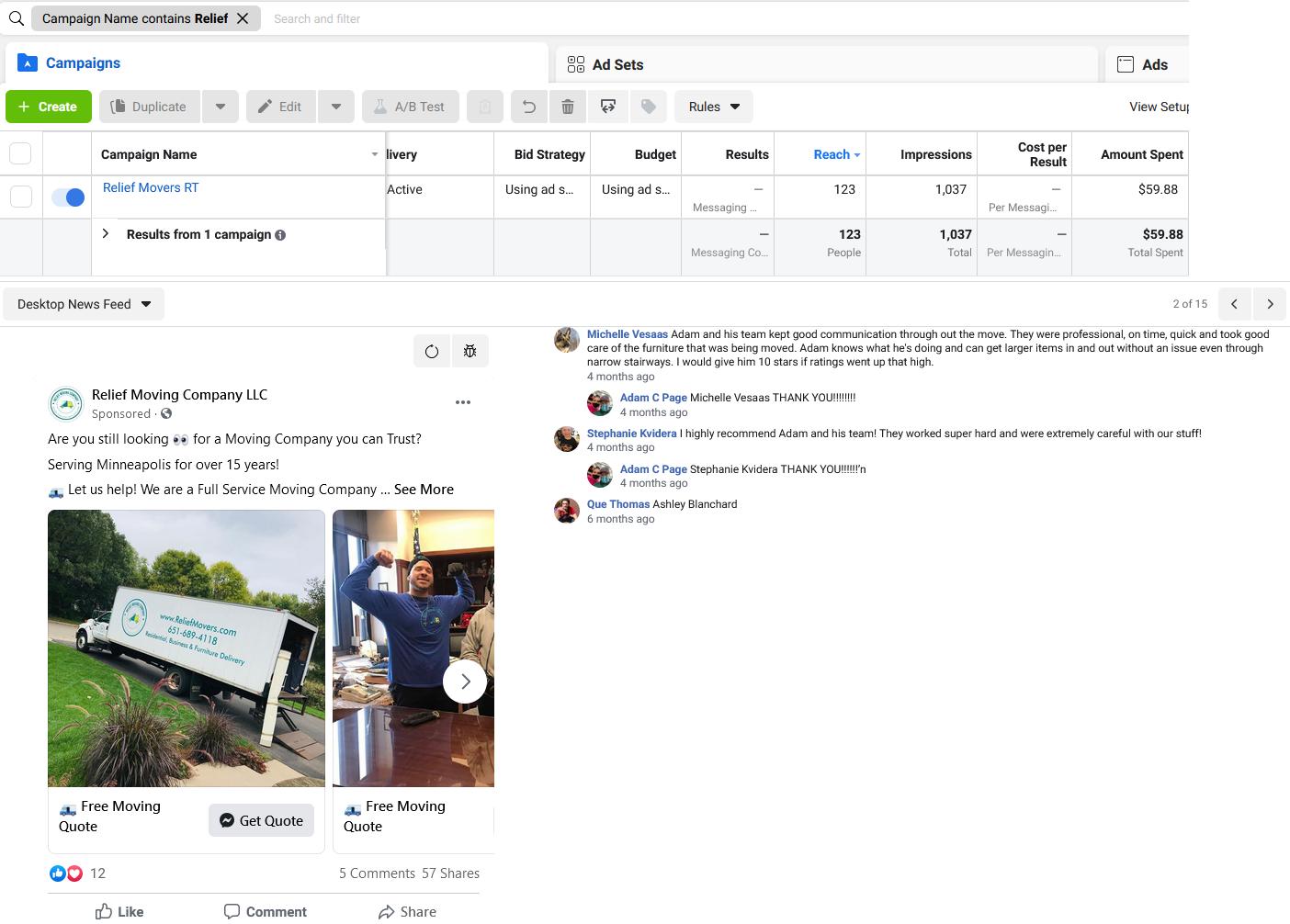 Facebook and Instagram Remarketing Ads MoversBoost