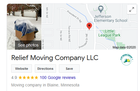 Google Maps SEO Moving Businesses Company