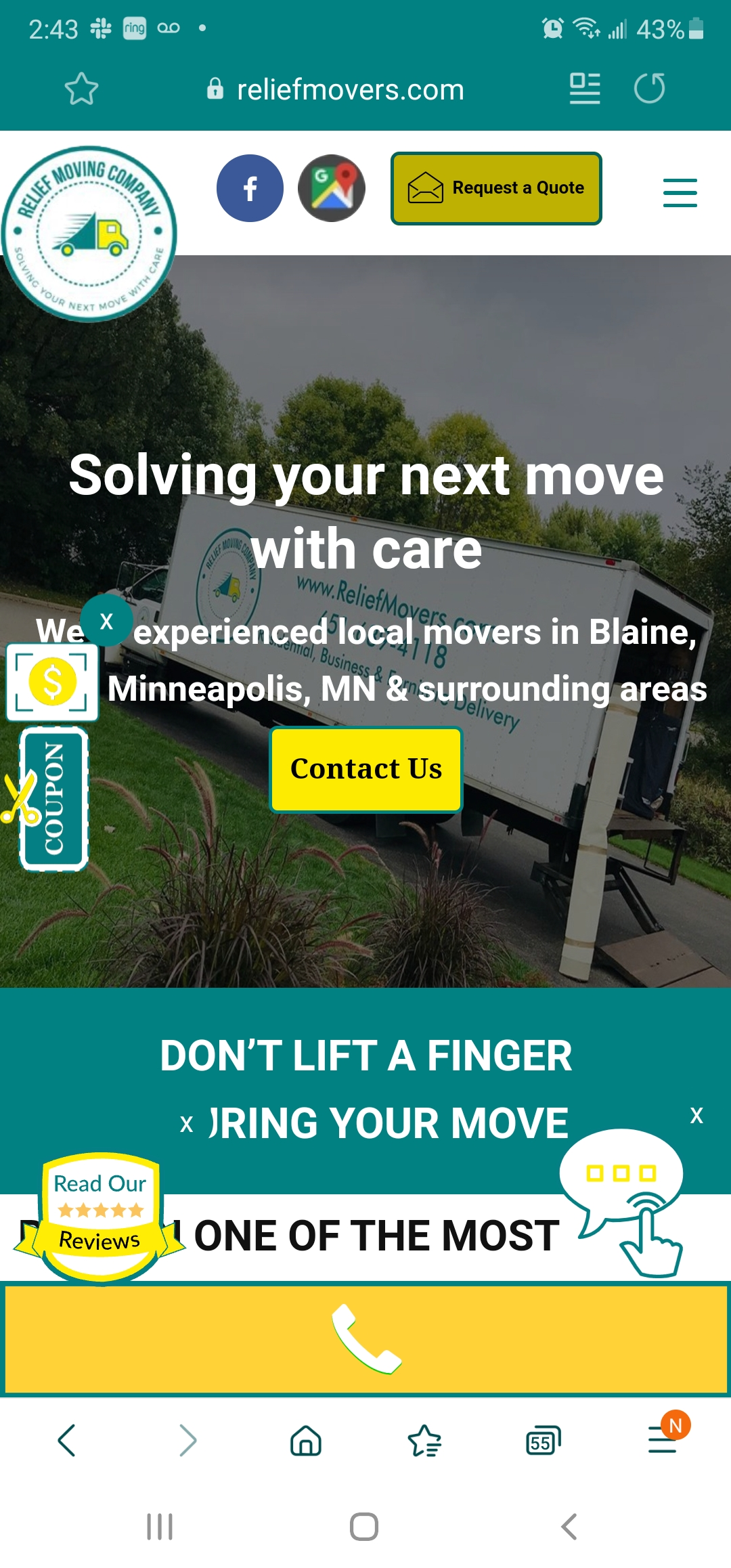 Mobile Websites Moving Company